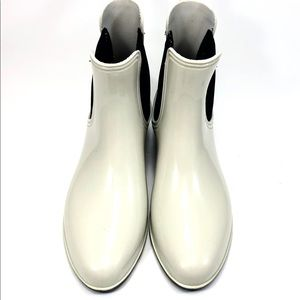 7 For All Man Kind Sz.10 White Rain Boots